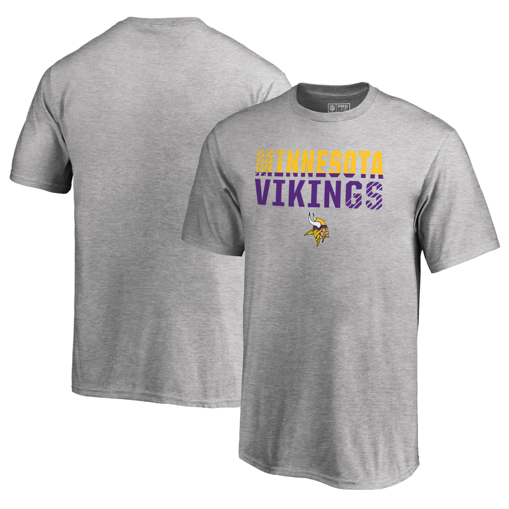 Minnesota Vikings NFL Pro Line by Fanatics Branded Youth Iconic Collection Fade Out T-Shirt - Ash
