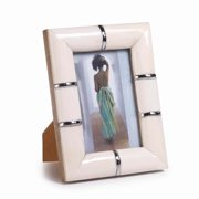 "Zodax Playa Small 4"" x 6"" Bone Photo Frame in Natural"