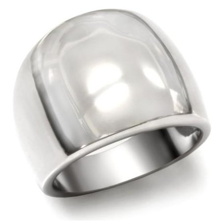 High Polished Fashion (Women's Stainless Steel 316 High Polished Classic Fashion Ring Band Size 9)