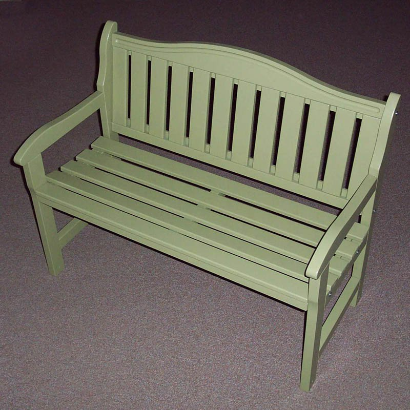 Prairie Leisure Aspen 44 in. Hump Back Garden Bench