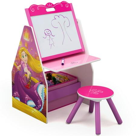 Disney Princess Deluxe Kids Art Table Easel Desk Stool