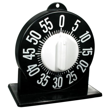 Tactile Short Ring Low Vision Timer With Stand - Black Dial (Short Ring Timer)