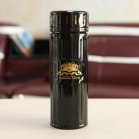 Men And Women Steel Pattern Bubble Tea Leak Portable Stainless teel Vacuum flask