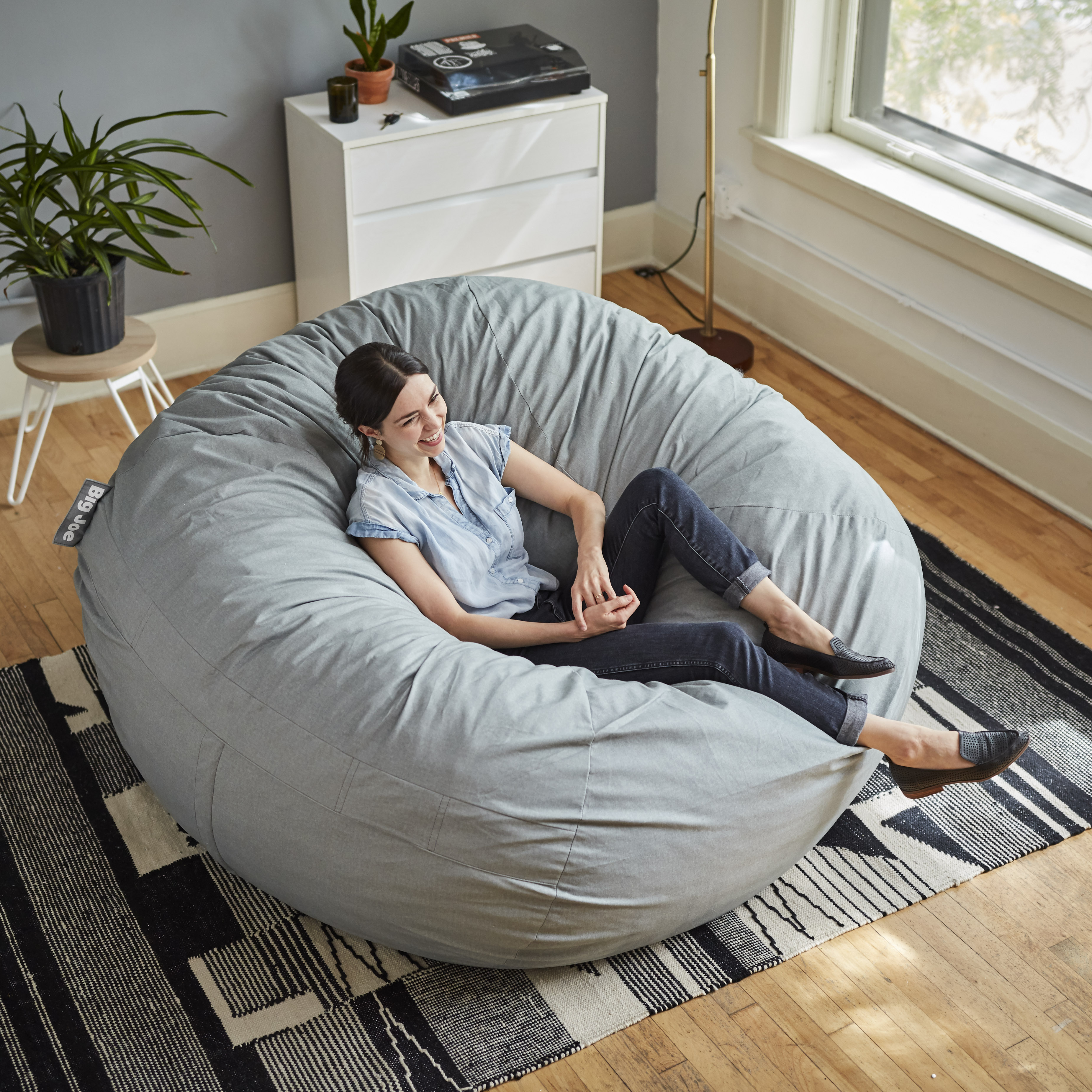 Amazing Big Joe Fuf 6 Round Bean Bag Chair Multiple Colors Dailytribune Chair Design For Home Dailytribuneorg