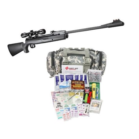 Remington Express Hunter .22cal Nitro Mag Break Barrel Air Rifle and Camillus First Aid 3 Day Survival Kit, Exclusive