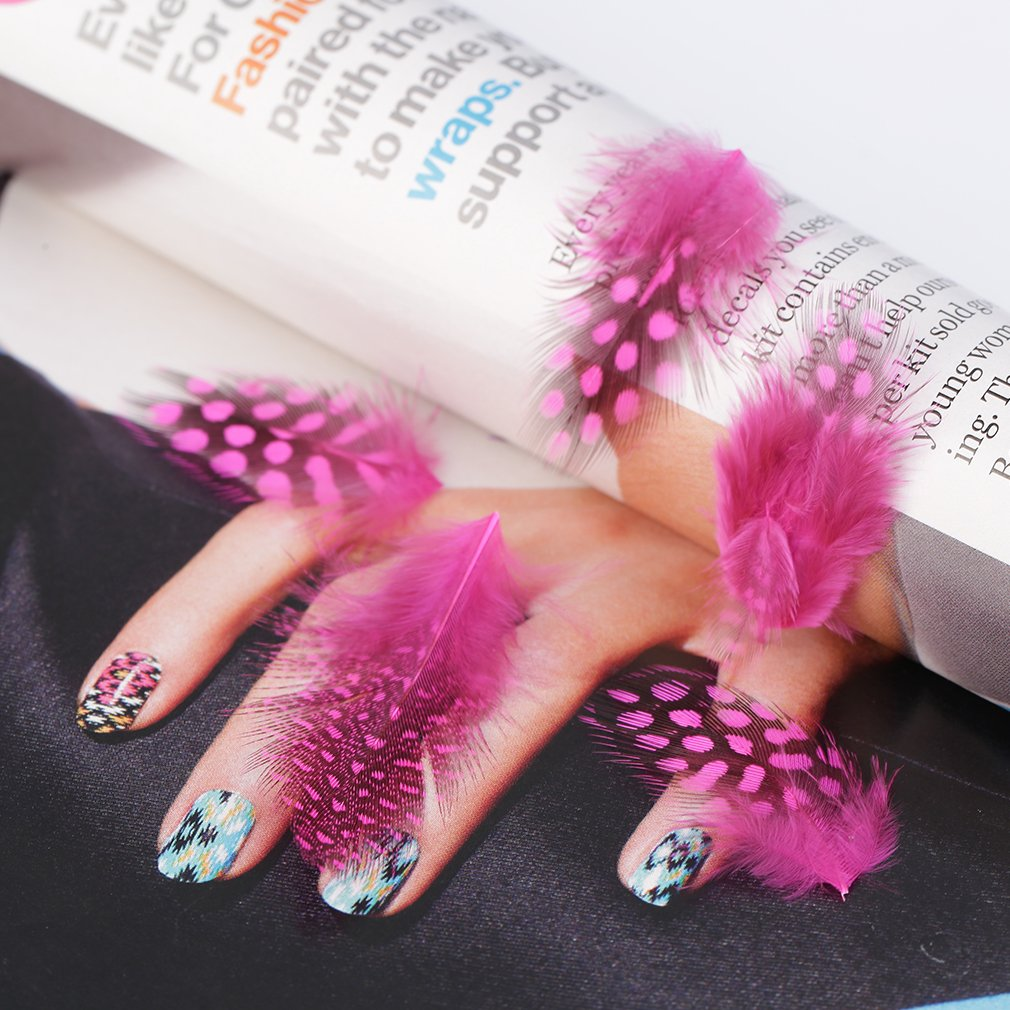 Fashion Feather Nail Art Water Transfer Decals Sticker French Tips Decor