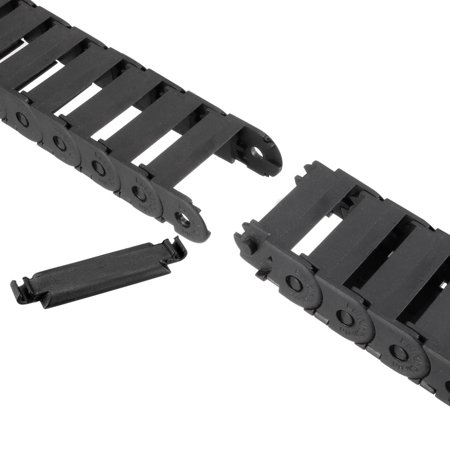 Drag Chain Cable Carrier Open Type with End Connectors R28 15X30mm 1.5 Meter Plastic for Electrical CNC Router Machines - image 3 de 5