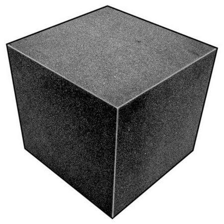 Foam Cube, Polyether, Charcoal, 4 In Sq ()