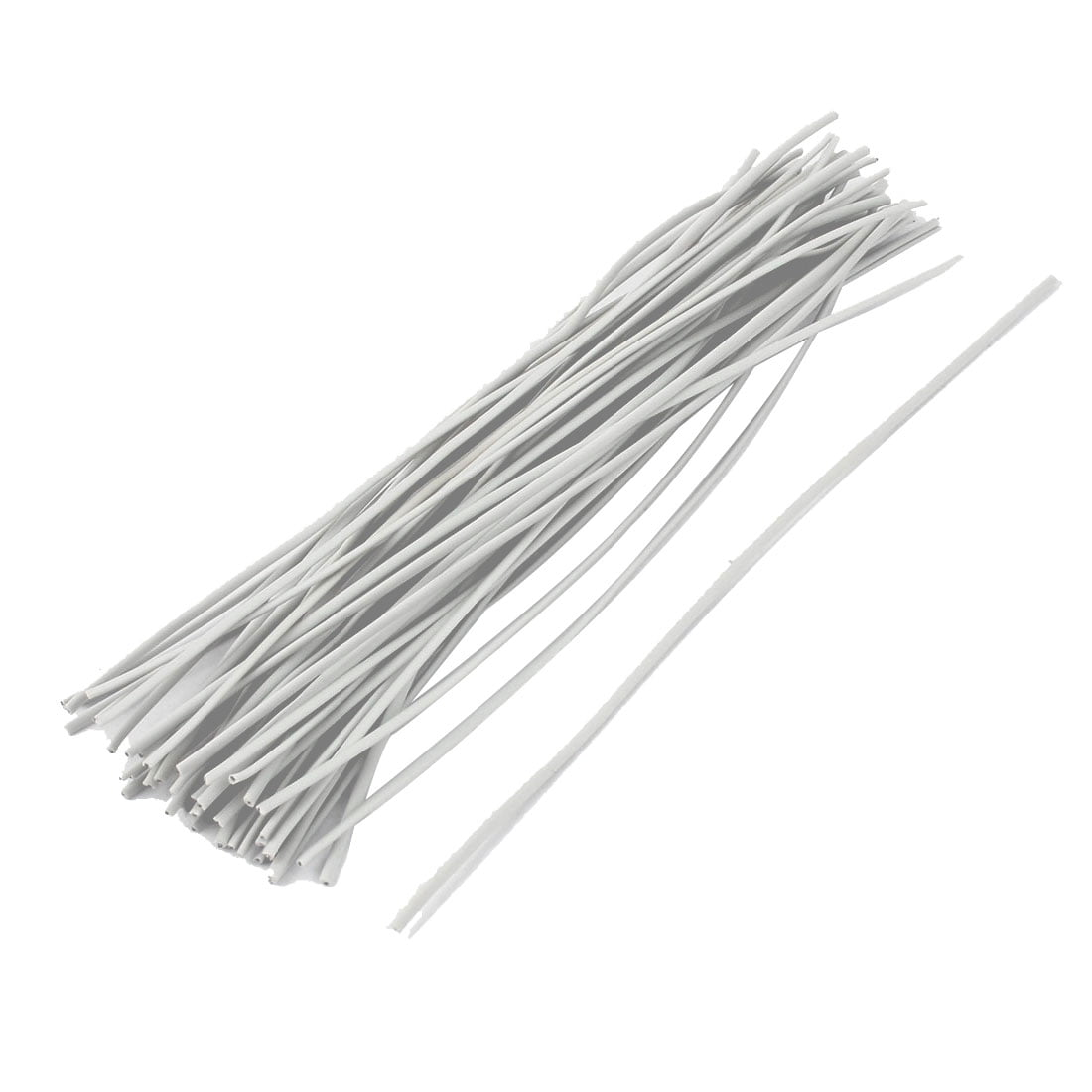 50pcs Package Reusable Twist Tie Candy Bag Ties 150mm Long White