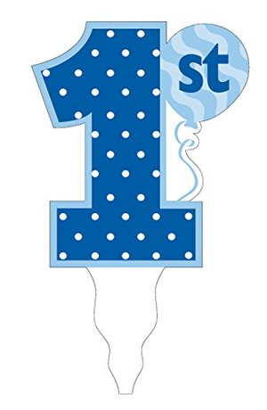 Creative Converting Quot 1st Birthday Boy Quot Cake Topper Blue