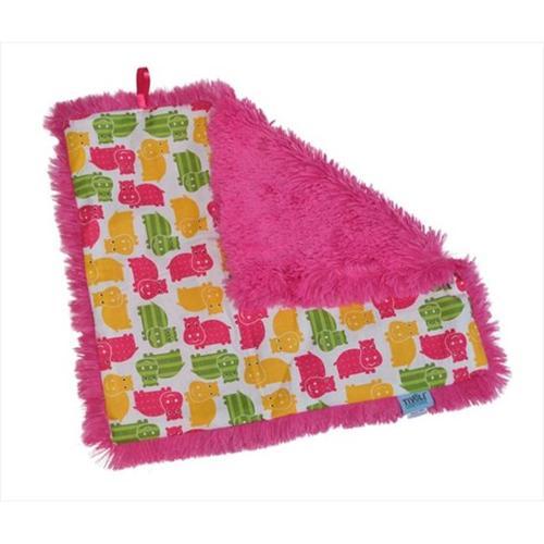 Tivoli Couture CSB 1102 Couture Shagg-e Stroller Blanket, Happy Hippo - green