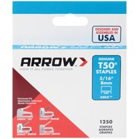Arrow 5/16-Inch T50 Staples, 1250 Count