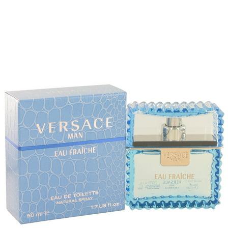 Versace Man by Versace - Men - Eau Fraiche Eau De Toilette Spray (Blue) 1.7 oz - image 1 of 1