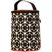 J.L. Childress Tall TwoCOOL 2 Bottle Cooler - Breastmilk and Baby Bottle Bag with Ice Pack, Black/Red Floral