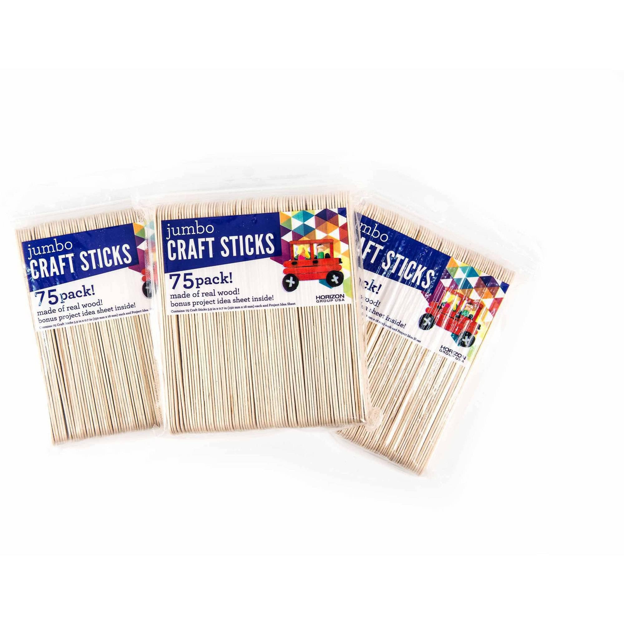 Jumbo wood craft sticks - Use These Over Sized Jumbo Wood Craft Sticks