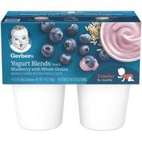 Gerber Yogurt Blends Snack Blueberry with Whole Grain Yogurt 4-3.5 oz. Cups