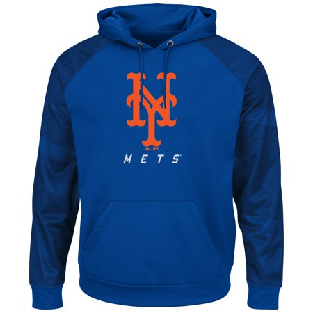 """New York Mets Majestic MLB """"Armor 2"""" Mens Pullover Hooded Sweatshirt by"""