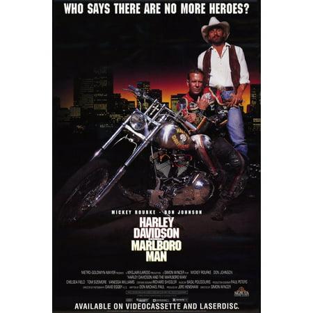 Harley Davidson Centerpieces (Harley Davidson and the Marlboro Man (1991) 11x17 Movie)