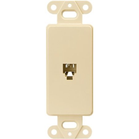 Cooper 3560V Ivory Four Wire Telephone Jack Decorator Wall Plate Insert