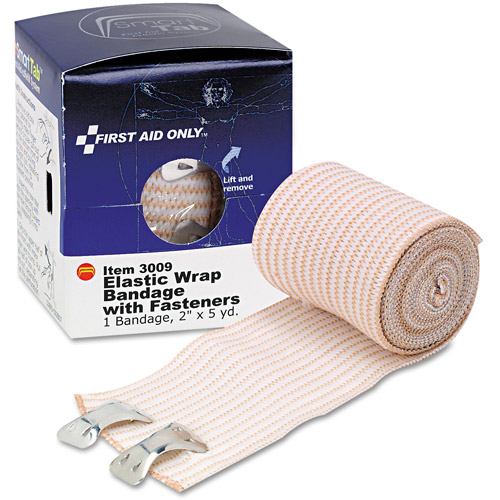 First Aid Only Elastic Wrap Bandage with Fasteners