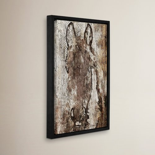 Loon Peak Shadow Queen Framed Painting Print on Wrapped Canvas