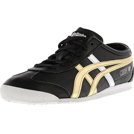 online store 0dfd6 87ea6 Onitsuka Tiger Mexico 66 Black / Gold Ankle-High Leather Fashion Sneaker -  8.5M 7M