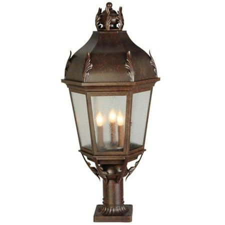 Meyda 141105 15 in. Royan Lantern Pier Post Mount High Post Mount Lantern