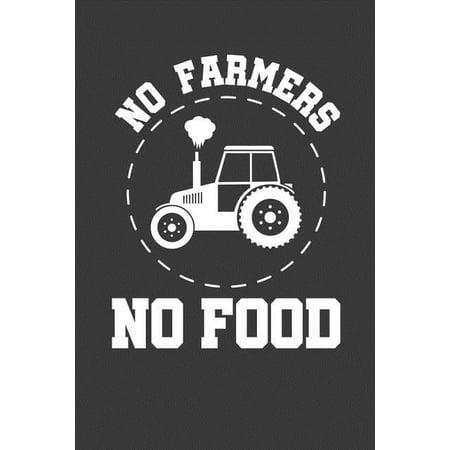 No Farmers No Food: 6x9 Notebook, 100 Pages Ruled, joke original appreciation gag gift for graduation, college, high school, Funny congrat Paperback Kindergarten Graduate Food