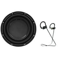 """Polk Audio DB1042DVC 10"""" 1050 Watt Car/Marine Audio Subwoofer Sub+ Earbuds"""