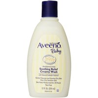12 PACKS : Aveeno Baby Soothing Relief Cream Wash, 12 Ounce