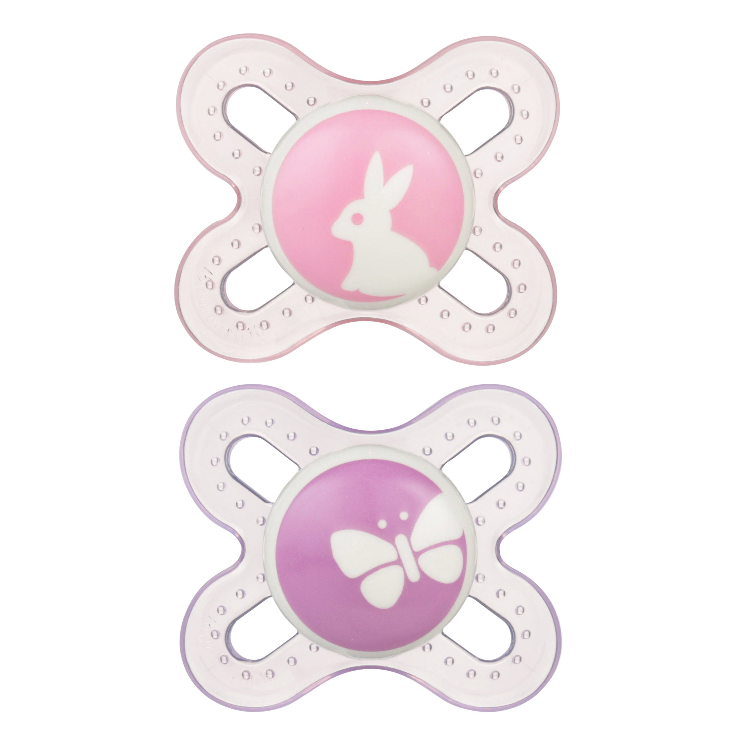 MAM Newborn Start Orthodontic Pacifier, 0+ Months, 2-Count, Girl