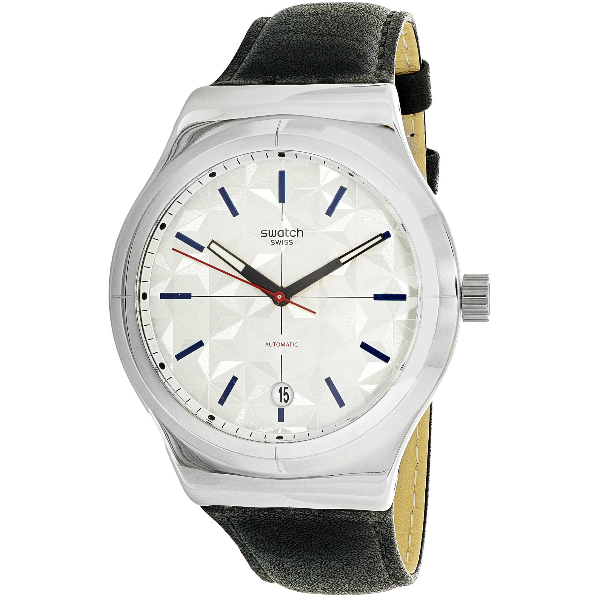 Swatch SISTEM PUZZLE Leather Mens Watch YIS408 by Swatch