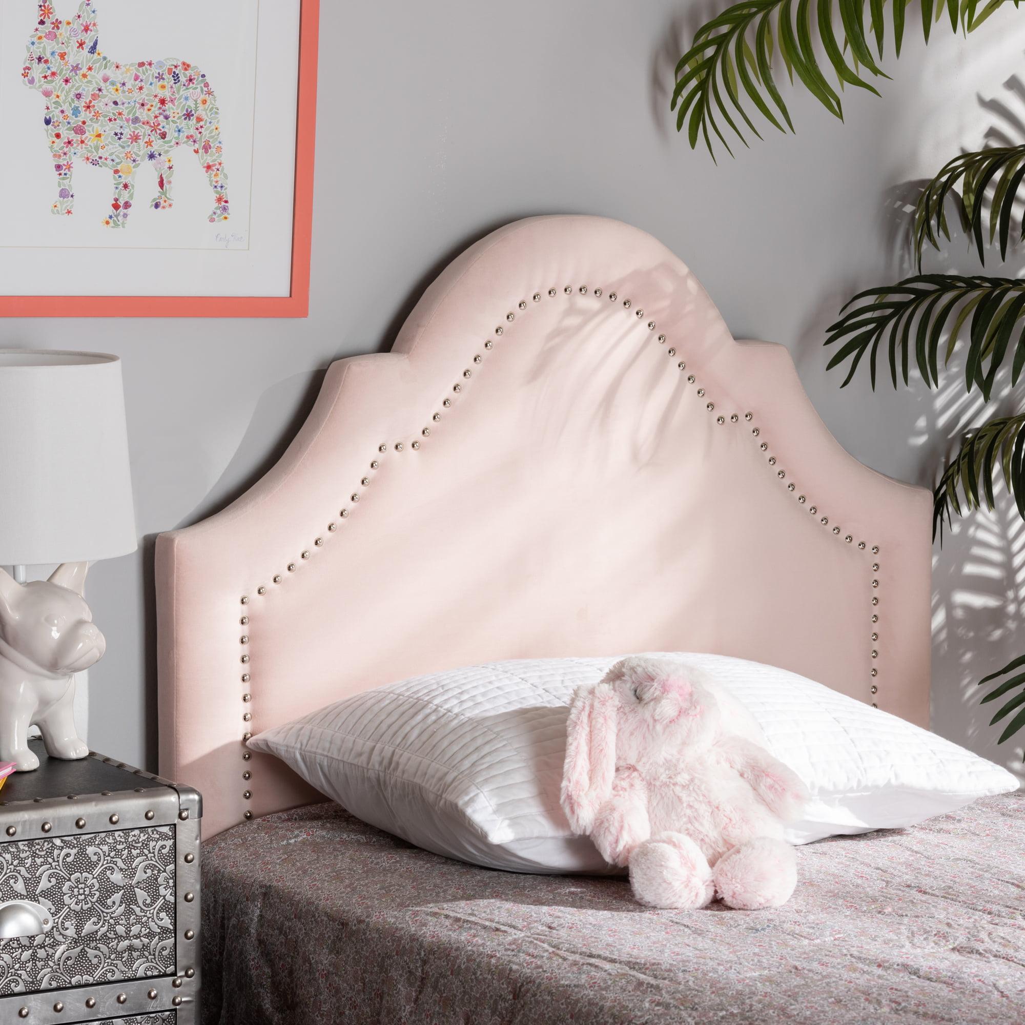 Baxton Studio Rita Modern And Contemporary Light Pink Velvet Fabric Upholstered Twin Size Headboard Walmart Com Walmart Com