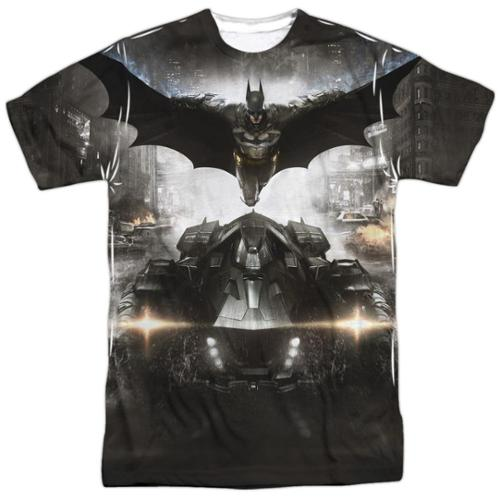 Batman Arkham Knight Poster (Front Back Print) Mens Sublimation Shirt White LG