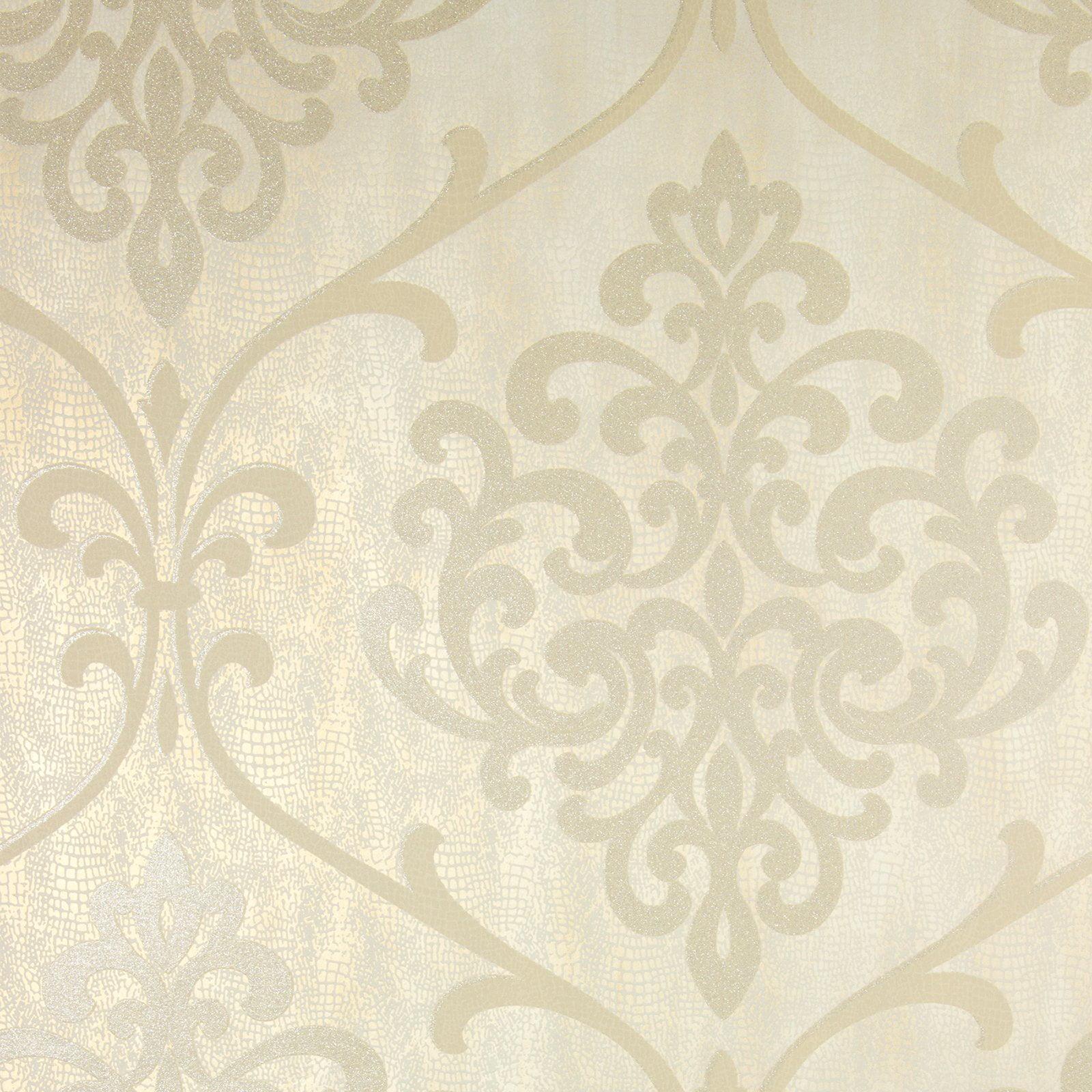 Kenneth James Ambrosia Glitter Damask Wallpaper