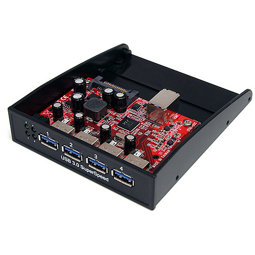 "StarTech 35BAYUSB3S4 3.5"" Front Bay to 4-Port USB 3.0 Panel Hub"