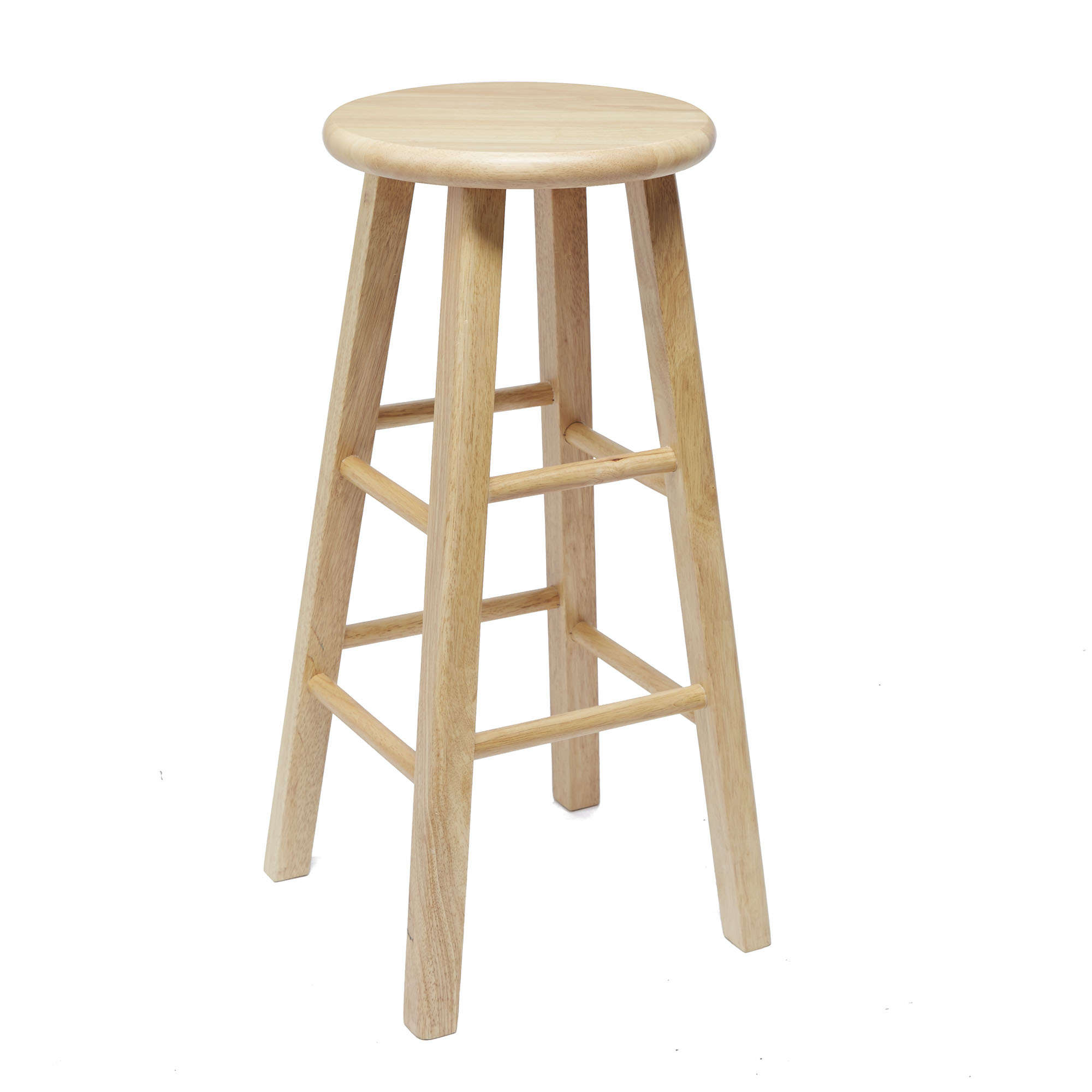 Barstool Set Of 4 Wood Bar Stools Solid Dinning Clic Round 24