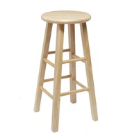"Mainstays 24"" Fully Assembled Natural Wood Bar Stool by Cheyenne Products"