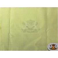 "Poly Poplin Gingham Fabric Mini Checkers 13 APPLE GREEN / 58"" Wide / Sold by the yard"