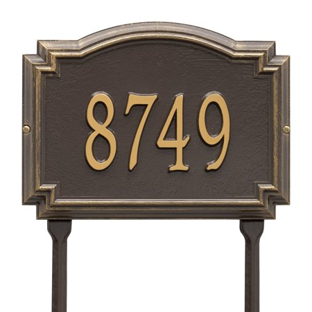 Personalized Whitehall Products Williamsburg 1-Line Standard Lawn Plaque in Bronze/Gold