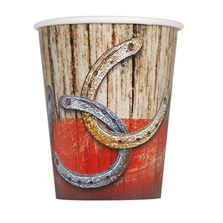 9 oz Paper Western Hoedown Cups, 8ct - Western Hoedown