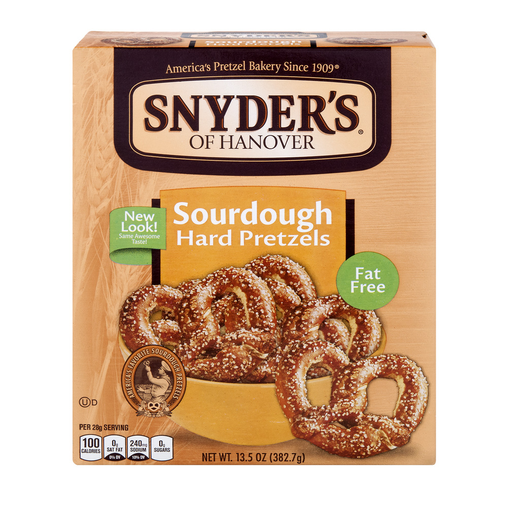 Snyder's of Hanover Fat Free Hard Pretzels Sourdough, 13.5 OZ