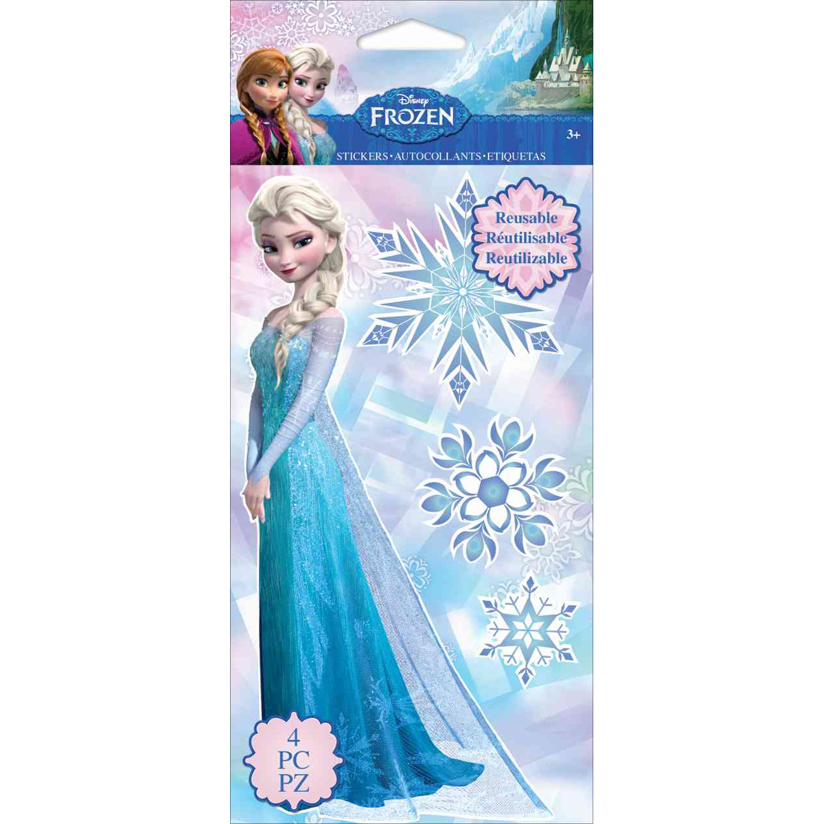 Disney Repositionable Stickers-Frozen Elsa