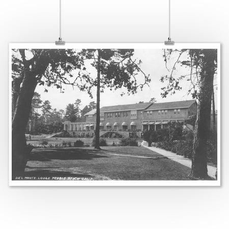 Del Monte Lodge in Pebble Beach, CA Photograph (9x12 Art Print, Wall Decor Travel (Inn At Del Monte Beach Monterey Ca)