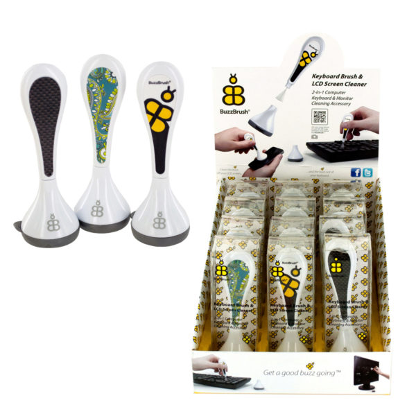 Buzzbrush Keyboard &Amp; Screen Cleaner Display (Pack Of 24)