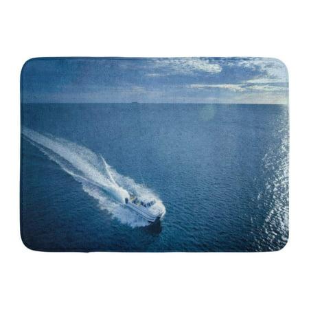 GODPOK Beautiful Blue Sport Deep Sea Fishing Boat Fish Boating Rug Doormat Bath Mat 23.6x15.7 inch Deep Sea Fishing Boat