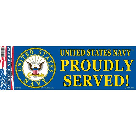 United States Navy Proudly Served Bumper Sticker