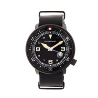Morphic M58 Series Men's Nato Leather-Band Watch W/ Date