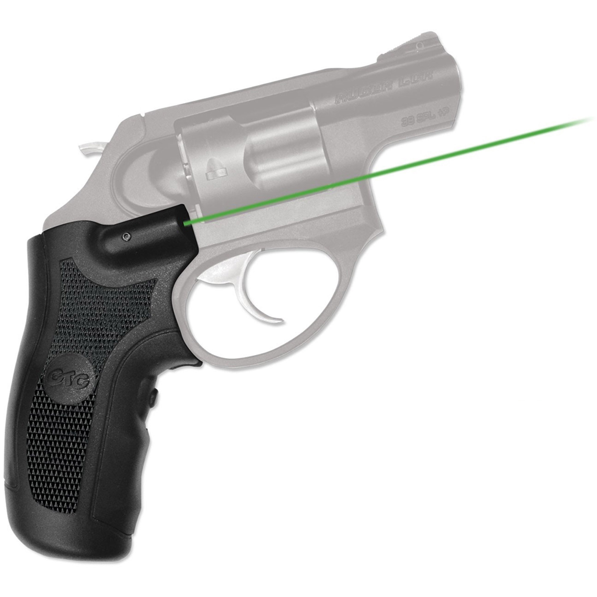 Crimson Trace Corporation Green LaserGrip, Fits Ruger LCR, Standard Polymer