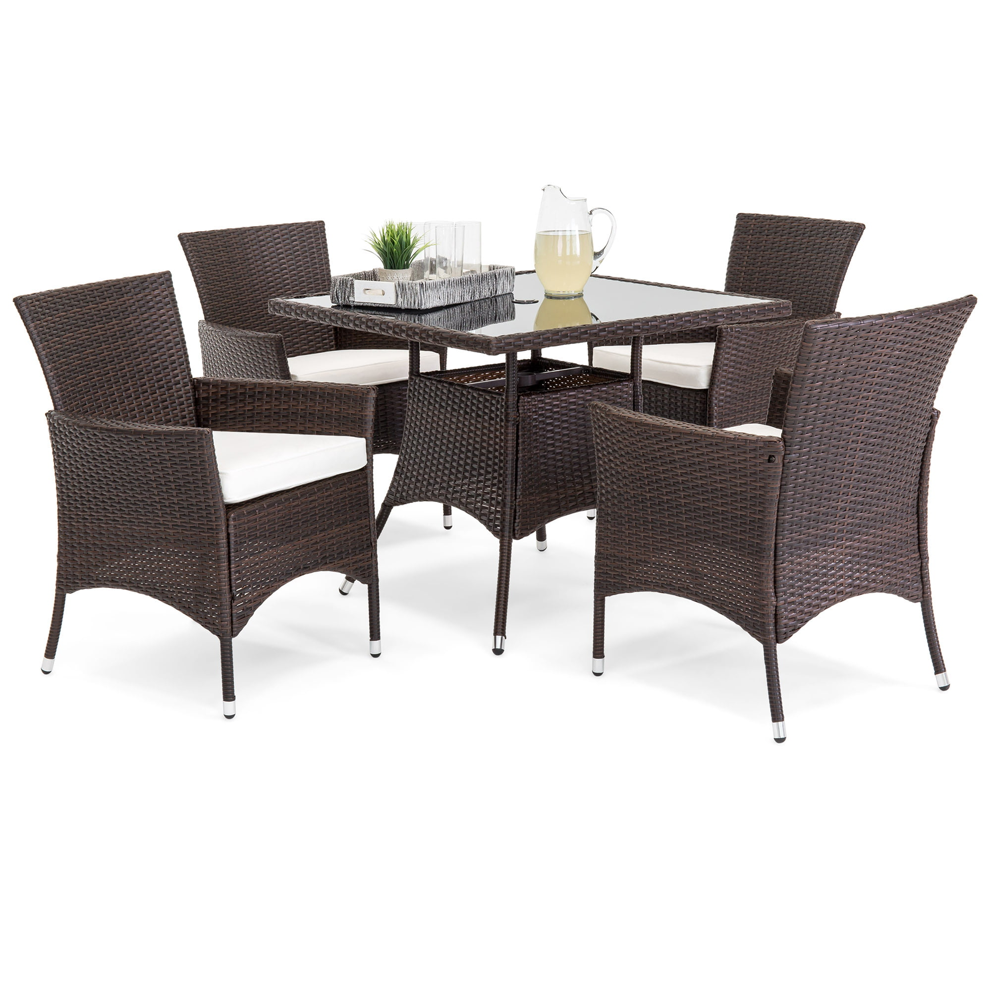 Best Choice Product 5-Piece Indoor Outdoor Wicker Patio